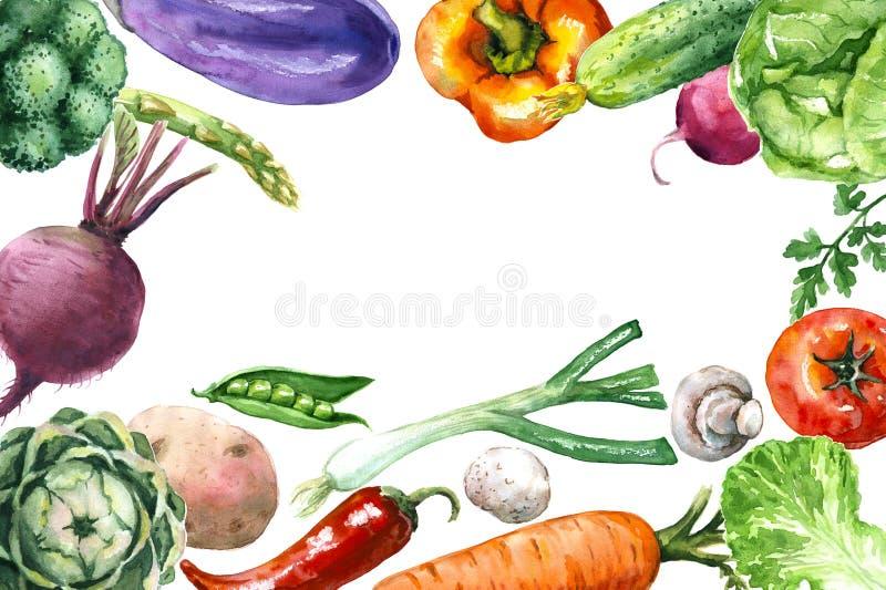Diverse groentenachtergrond royalty-vrije illustratie