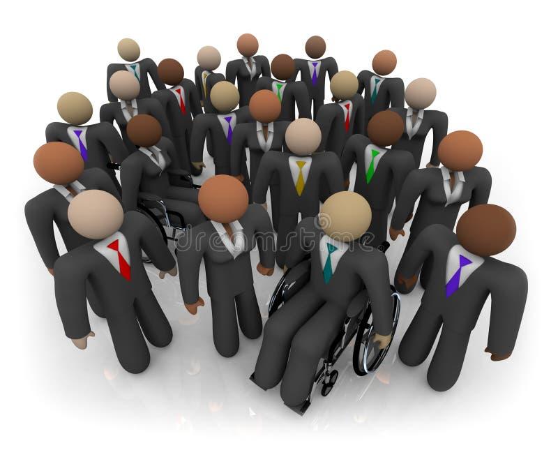 Diverse Groep BedrijfsMensen stock illustratie