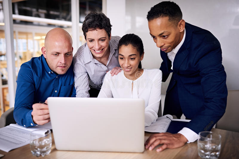 Diverse group of business people working as a team royalty free stock photography