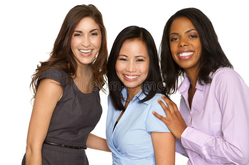Diverse group of business women. Diverse group of business women isolated on white stock photos