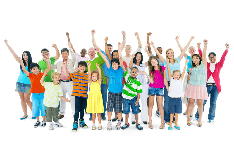 Diverse Group of Cheerful People stock photos