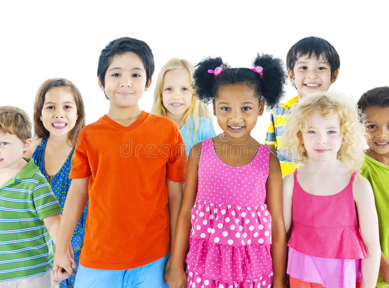 Diverse Group of Children Smiling royalty free stock images