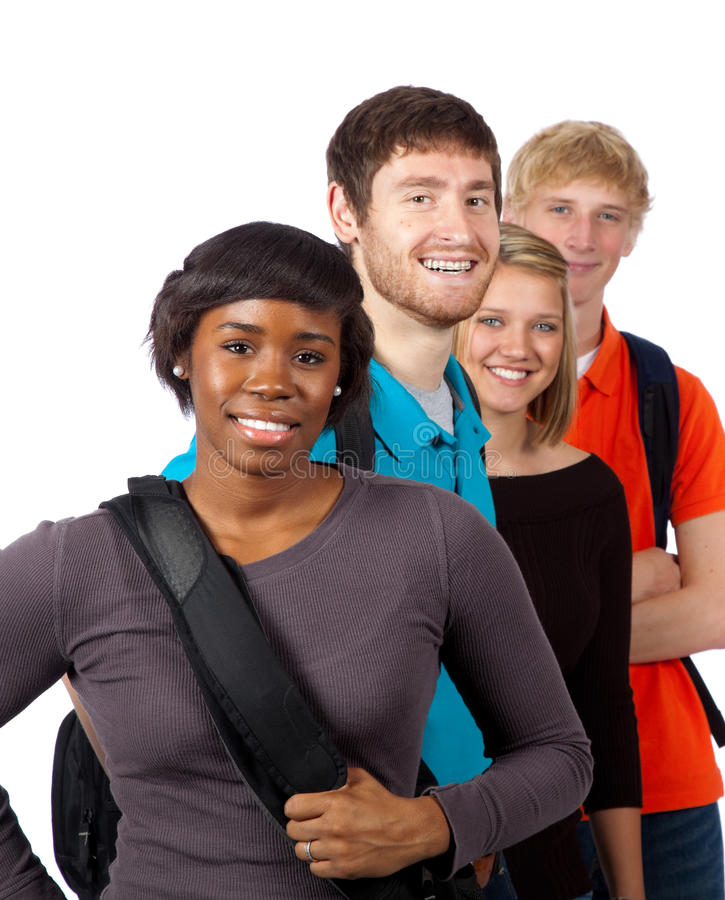 Diverse Group Of College Students Stock Image