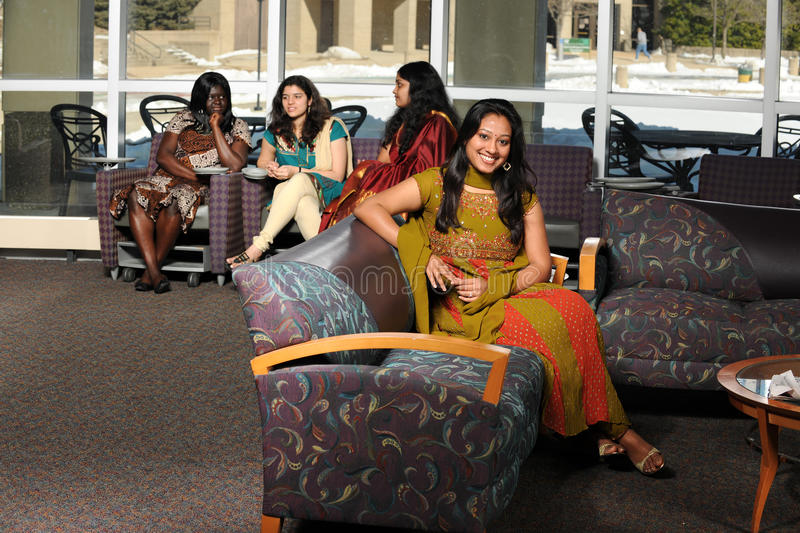 Diverse Group Of Female Students Stock Photos
