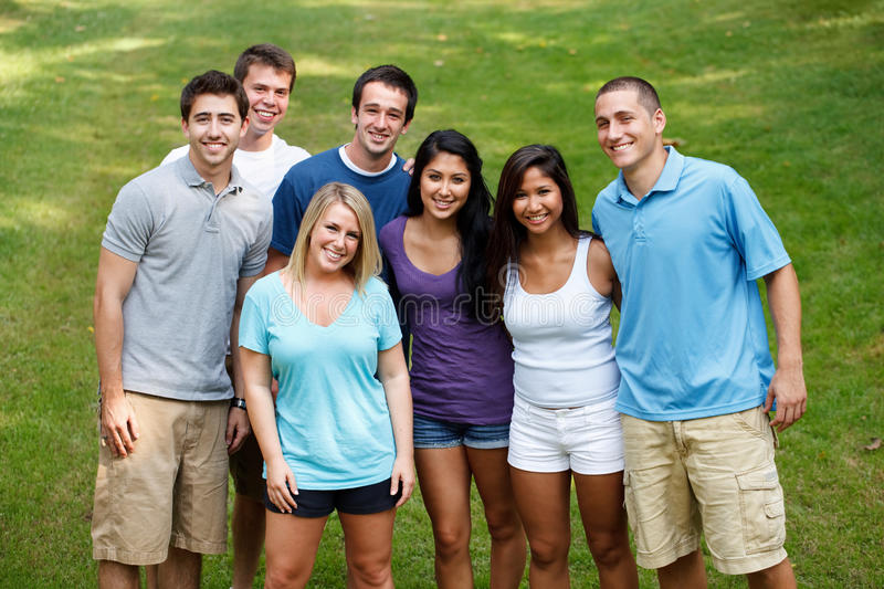 Download Diverse group of friends stock image. Image of looking - 23536089