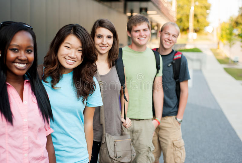 Download Diverse Group Of Friends In A Line Stock Photography - Image: 27217792