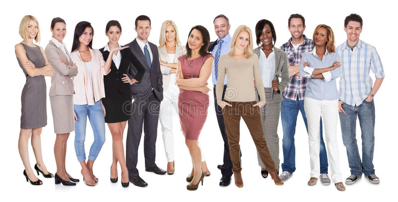 Diverse group of people stock image