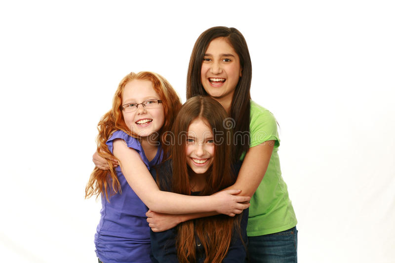 Diverse group of young girls royalty free stock photos