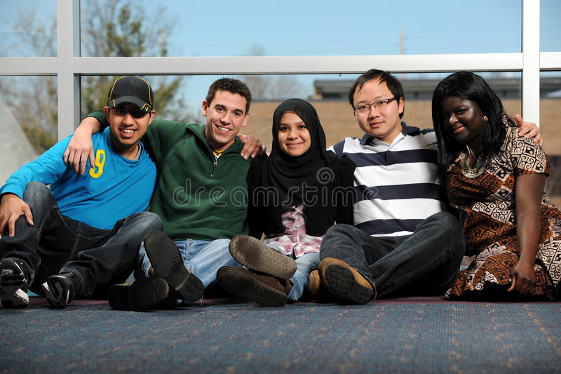Diverse Group of Young People stock photography