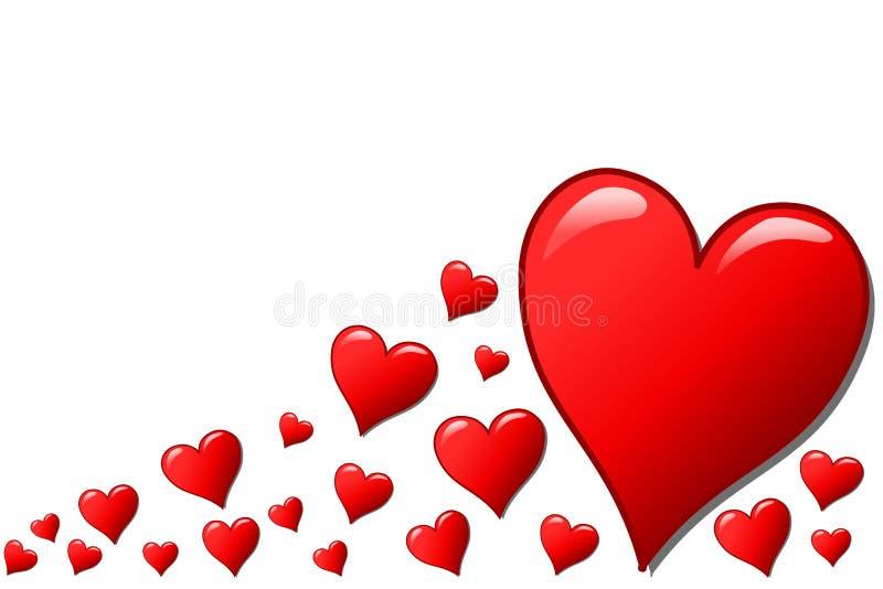 Diverse harten stock illustratie