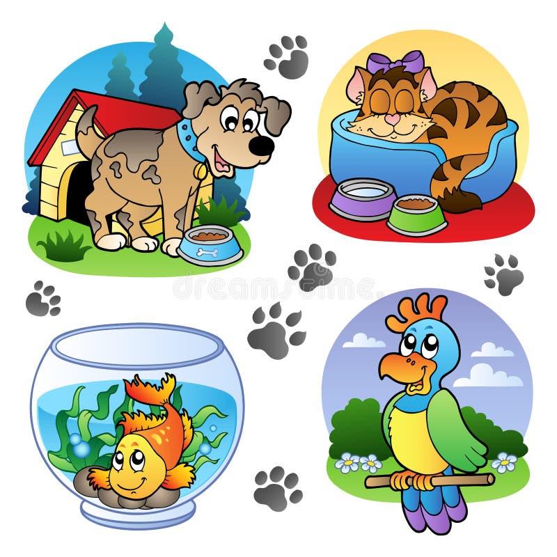 Diverse huisdierenbeelden 1 vector illustratie