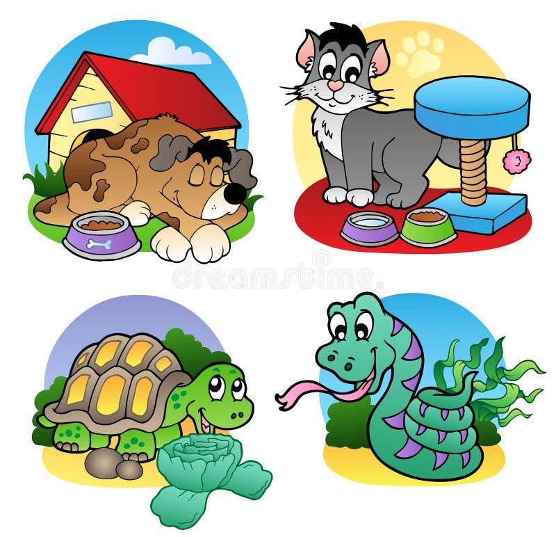 Diverse huisdierenbeelden 2 royalty-vrije illustratie