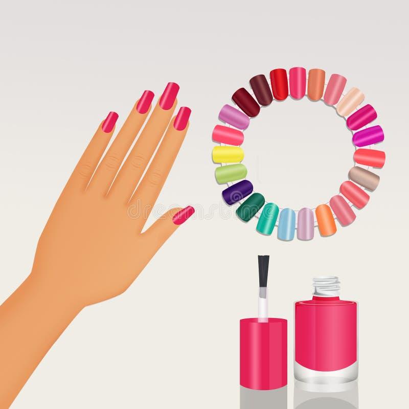 Diverse kleuren van email vector illustratie