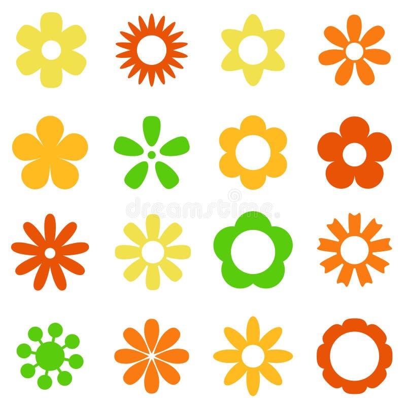 Diverse kleurrijke bloemen vector illustratie