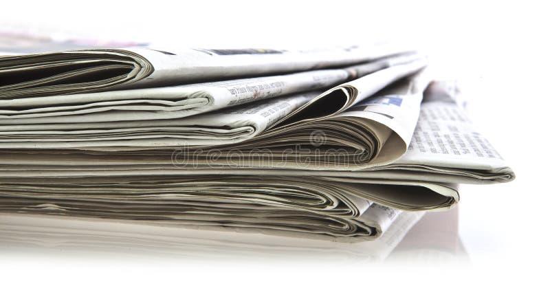 Diverse kranten royalty-vrije stock foto's