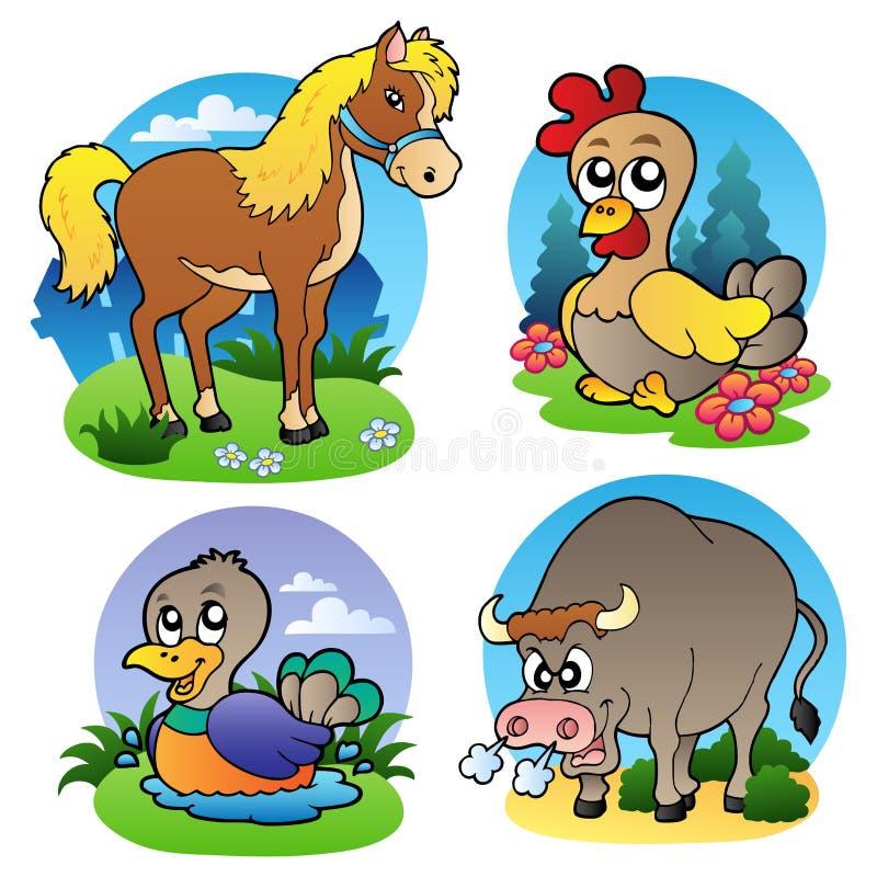 Diverse landbouwbedrijfdieren 2 royalty-vrije illustratie