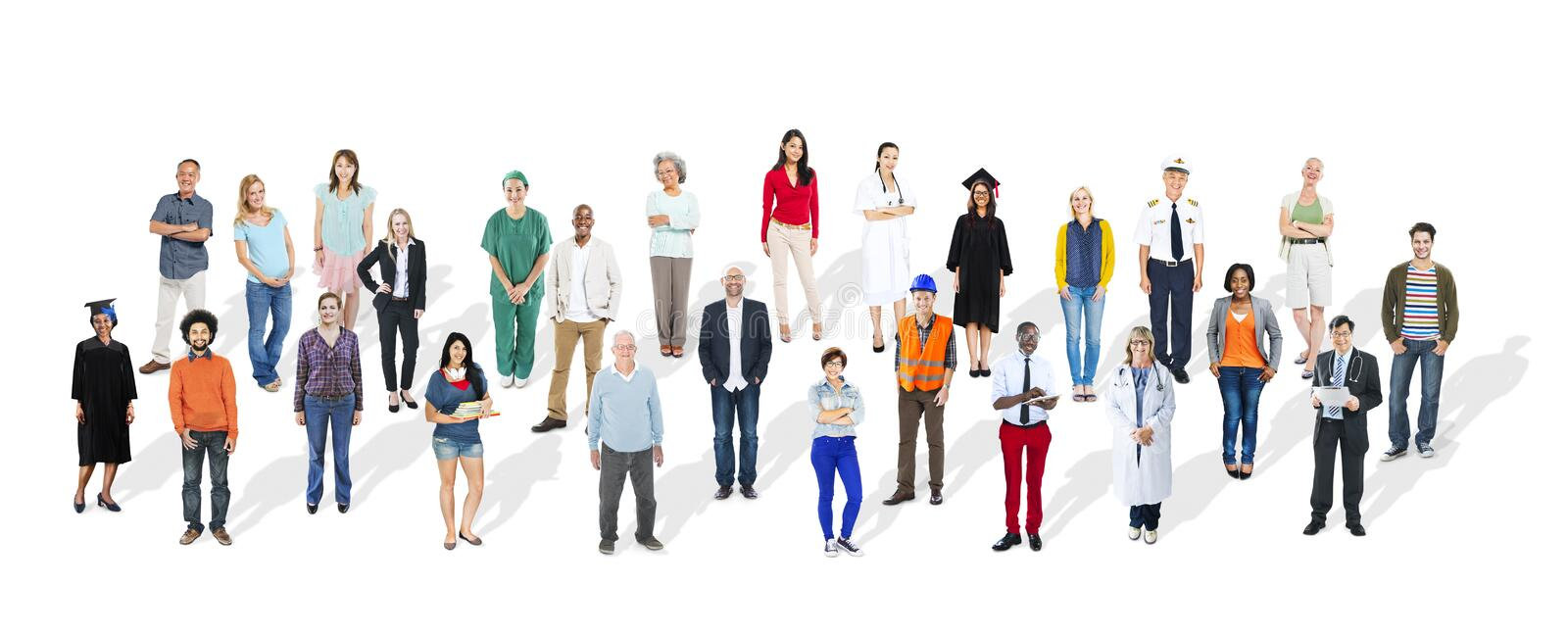 Diverse Large Group People Multiethnic Community royalty free stock image