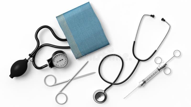 Diverse medische apparatuur royalty-vrije illustratie