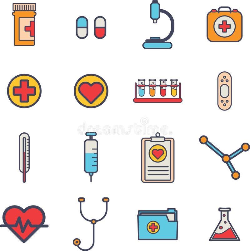 Diverse medische apparatuur vectorpictogrammen vector illustratie