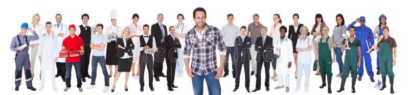 Diverse mensen met verschillende beroepen royalty-vrije stock foto's