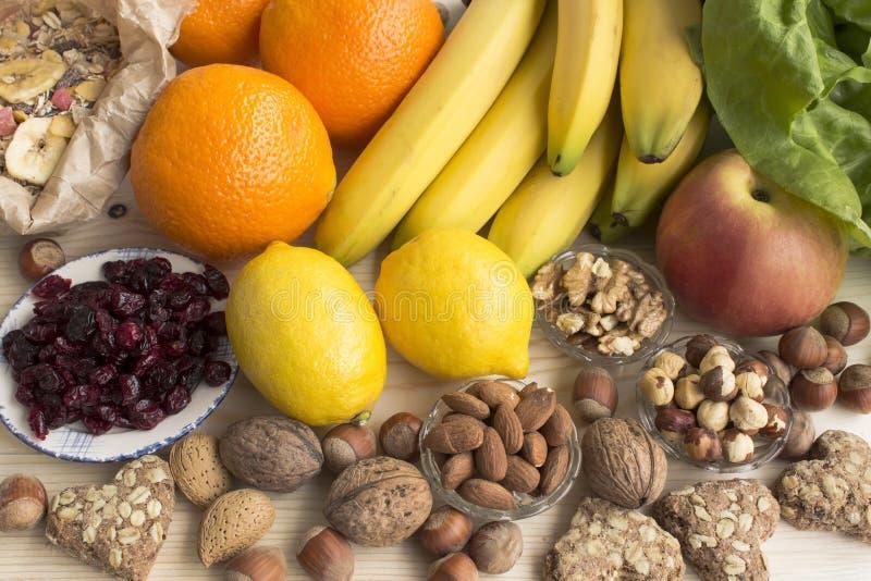 Diverse nourriture saine photo stock