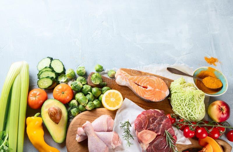 Diverse Paleo-dieetproducten stock fotografie