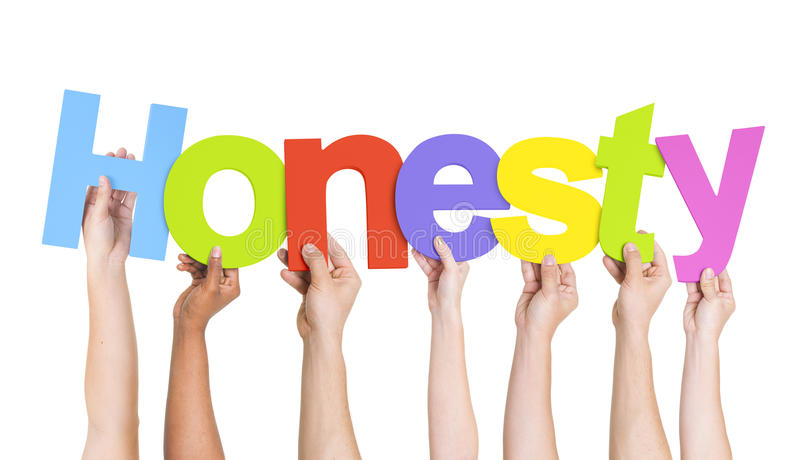 Diverse People Holding Word Honesty royalty free stock photos