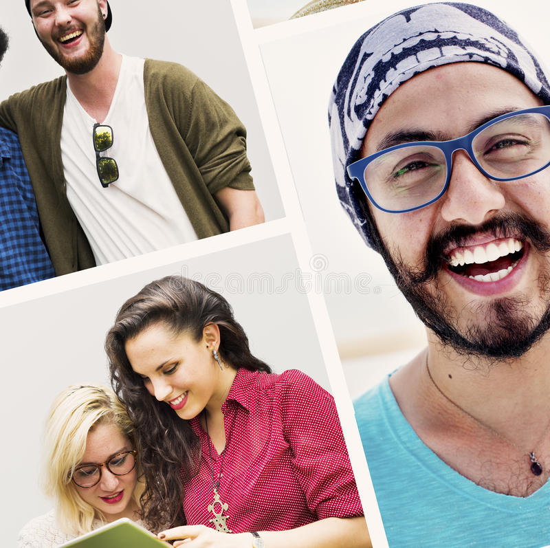 Diverse People Students Start Up Collage Concept.  stock photography