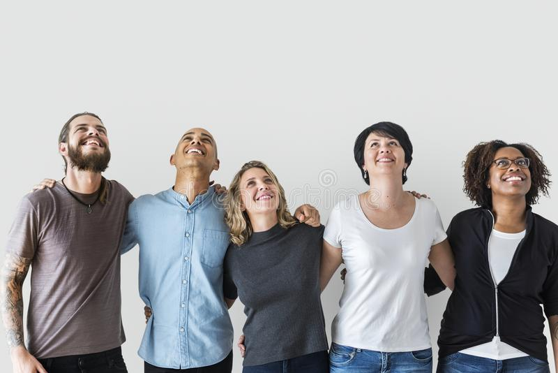 Diverse people with teamwork concept stock images