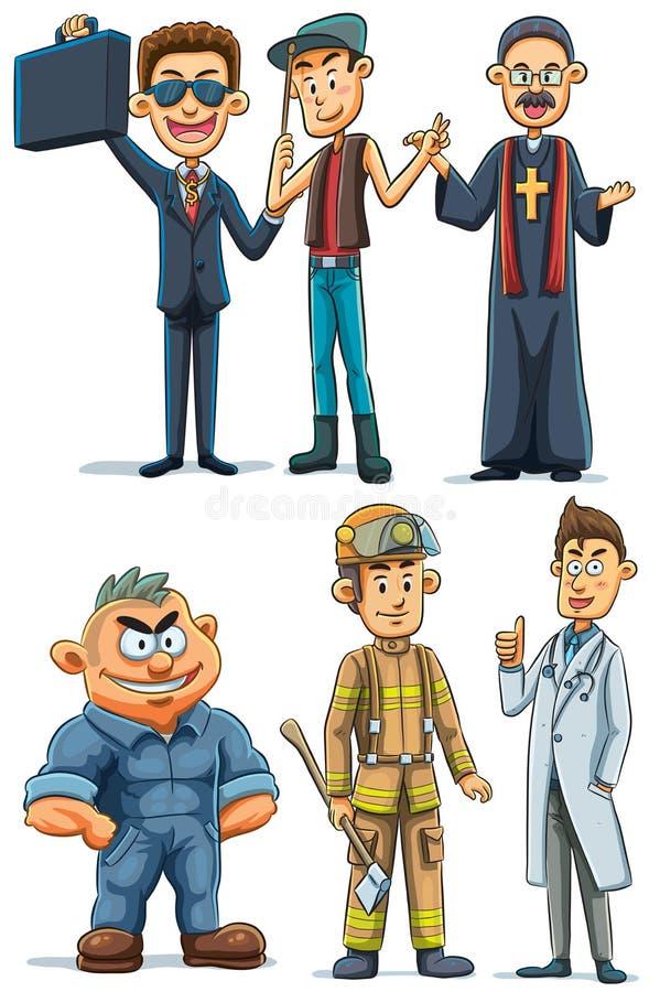 Diverse profession d'homme illustration libre de droits
