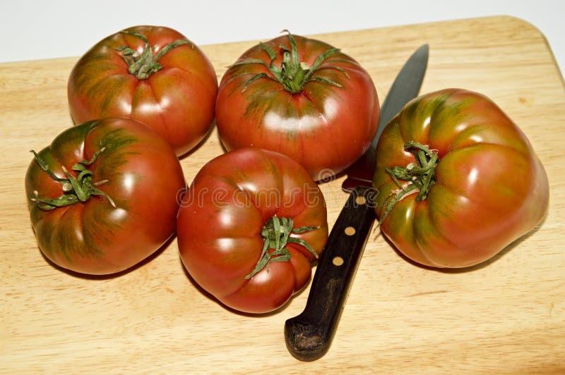 Diverse R.A.F.-tomaten op een raad royalty-vrije stock fotografie