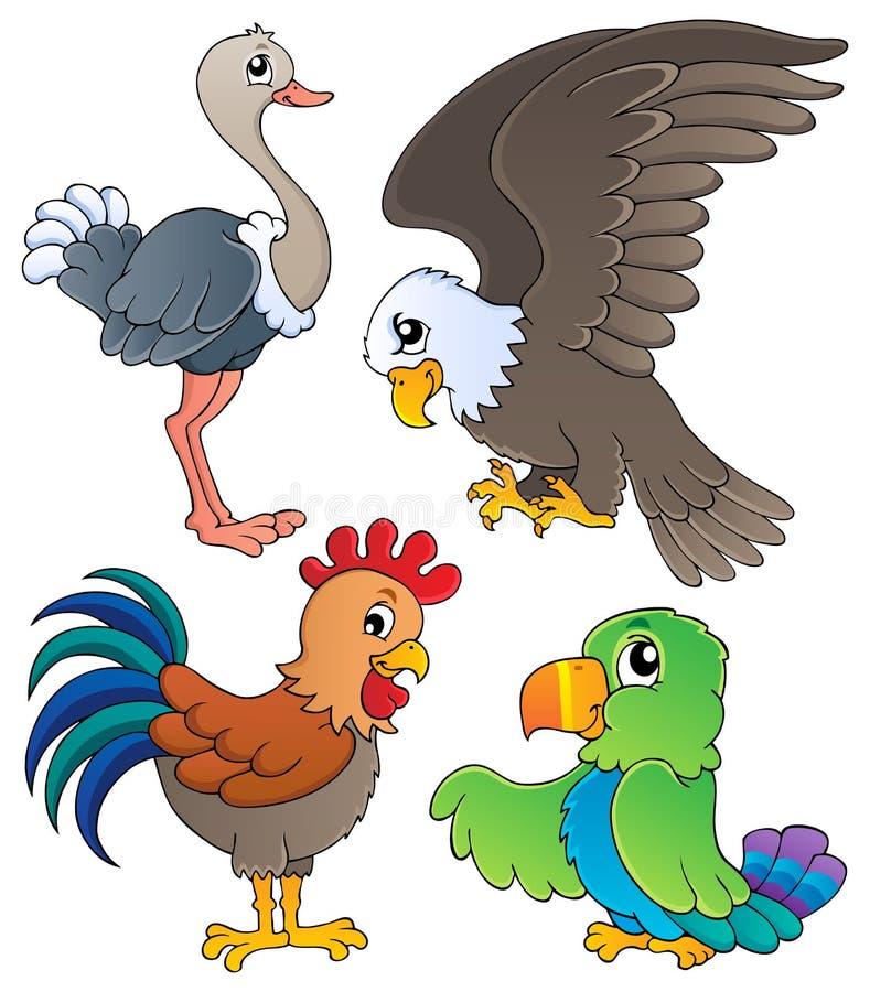Diverse reeks 1 van het vogelsthema royalty-vrije illustratie