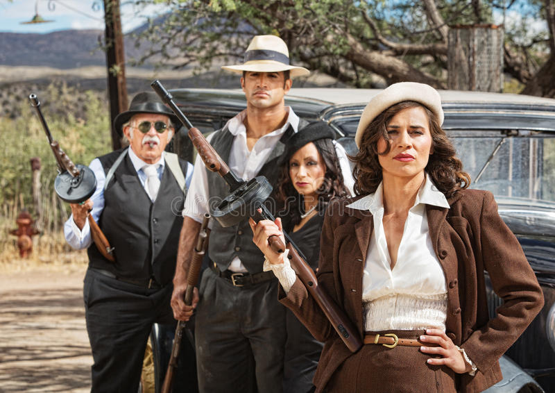 Diverse 1920s Era Gangsters stock image
