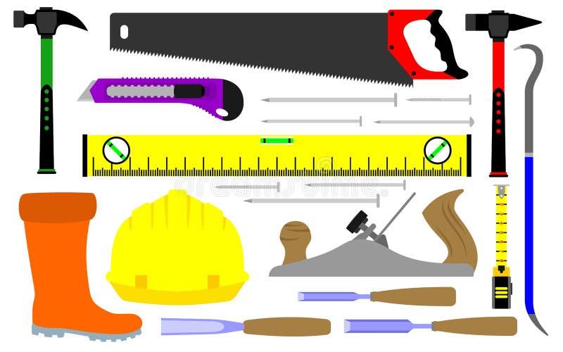 Diverse soorten bouwershulpmiddelen vector illustratie