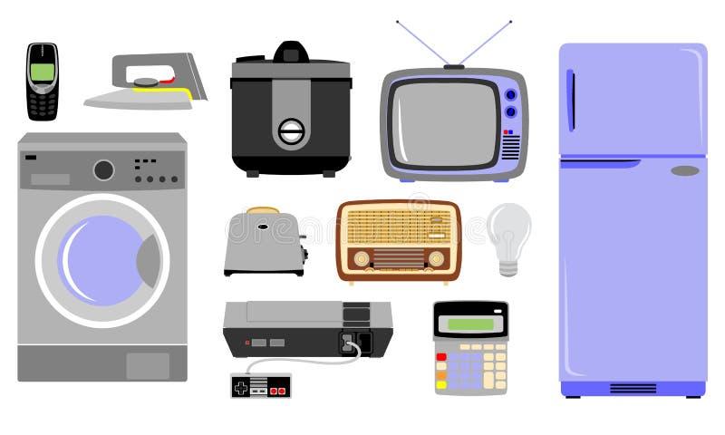 Diverse soorten elektronische goederen vector illustratie