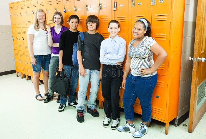 Diverse Studenten in School royalty-vrije stock fotografie