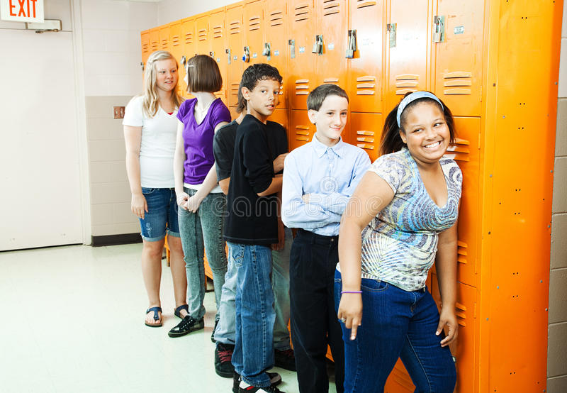 Download Diverse Students At Lockers Stock Photography - Image: 21069782