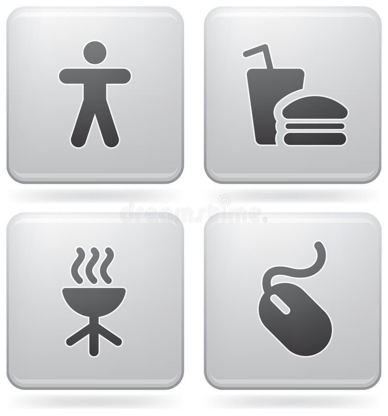 diverse symbolsinternet royaltyfri illustrationer
