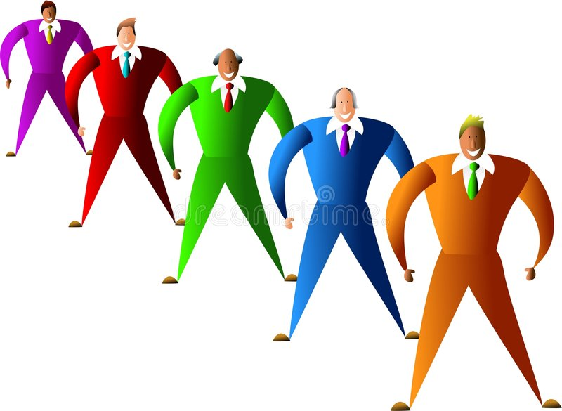 Download Diverse team stock illustration. Illustration of diversity - 454627