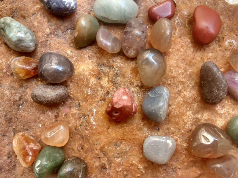 Diverse types van stenen stock foto's