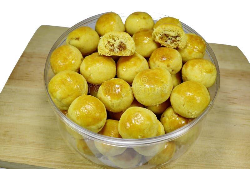 Diverse typische gebakjes van Eid al-Fitr in Indonesi? stock afbeelding