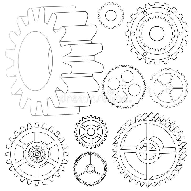 Diverse vectortoestellen royalty-vrije illustratie