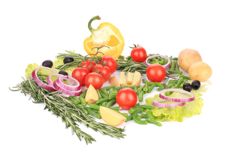Diverse verse groenten stock afbeelding