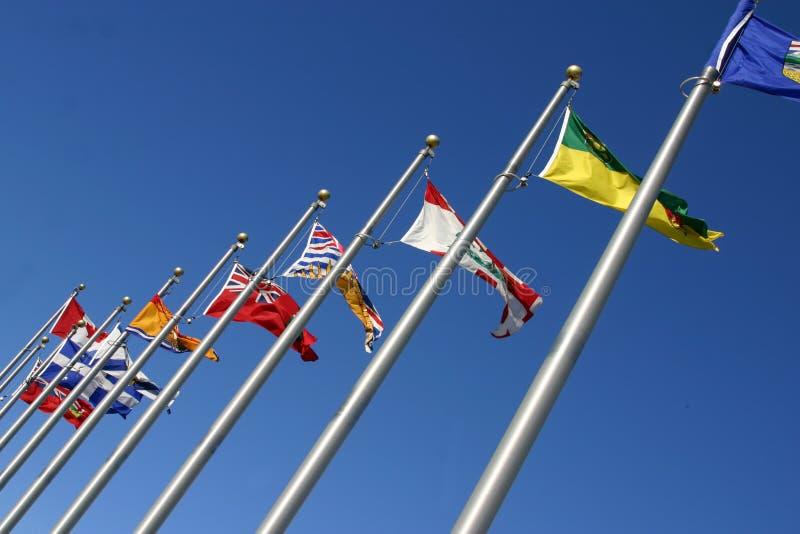 Diverse vlaggen stock afbeelding