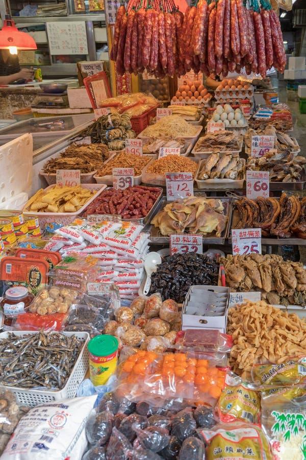 Diverse Voedselmarkt stock foto's