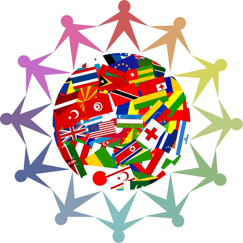 Diverse world vector illustration