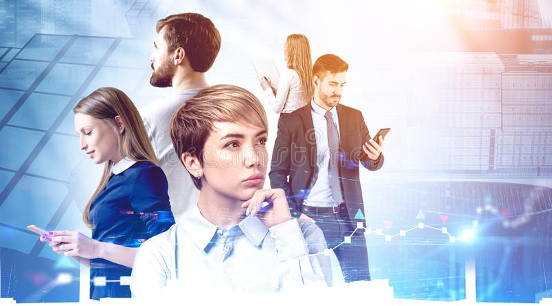 Diverse young business team. Partnership royalty free stock image