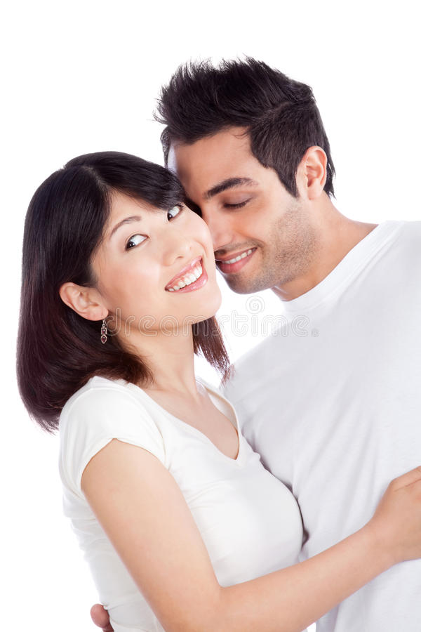 Diverse Young Couple royalty free stock images
