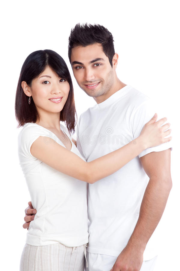 Diverse Young Couple royalty free stock photography