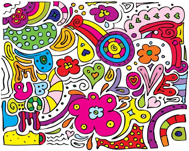 Diversen van de Liefde van de vrede stock illustratie